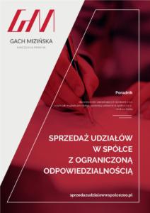 Poradnik Sprzedaż udziałów współce zograniczoną odpowiedzialnością Joanna Mizińska