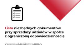 lista udziałów przy sprzedaży udziałów w spółce z o.o.