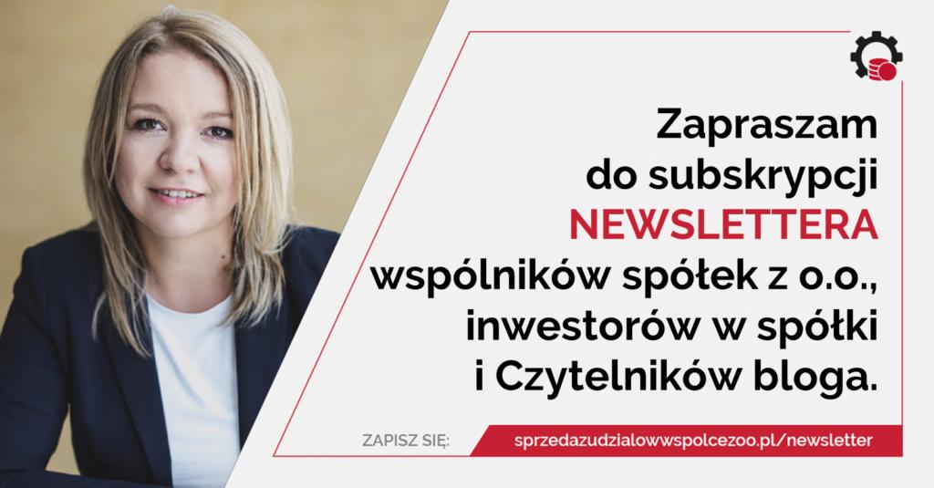 Newsletter bloga sprzedazudzialowwspolcezoo.pl