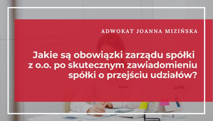 obowiązki zarządu sp. z o.o.
