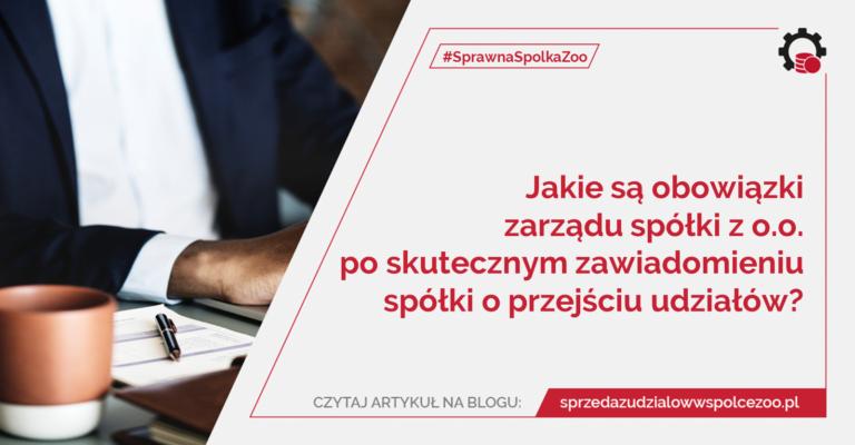 obowiązki zarządu spółki z o.o.